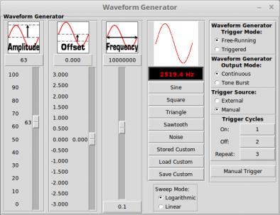 Waveform Generator Controls